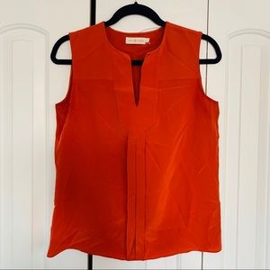Tory Burch | 100% Silk Burnt Orange Blouse 4